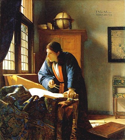 peinture,vermeer,le géographe