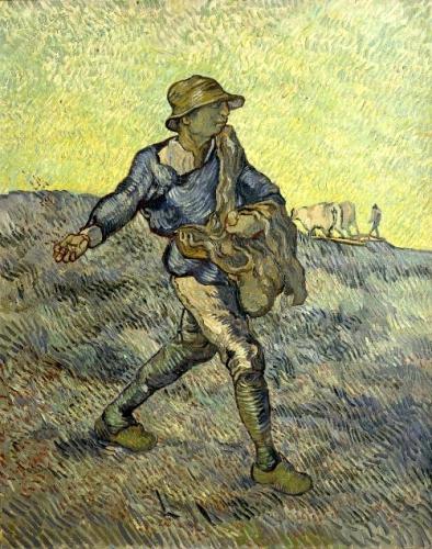 peinture, Van Gogh, Saint-Rémy, semeur