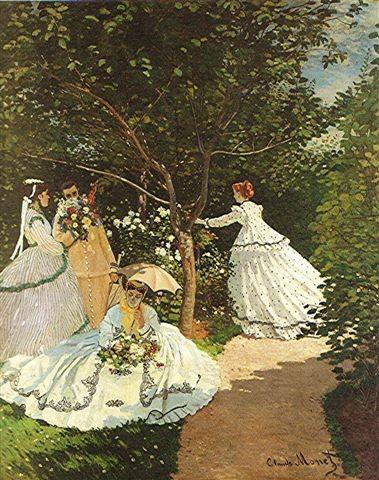Monet - femmes au jardin 1866 orsay.JPEG