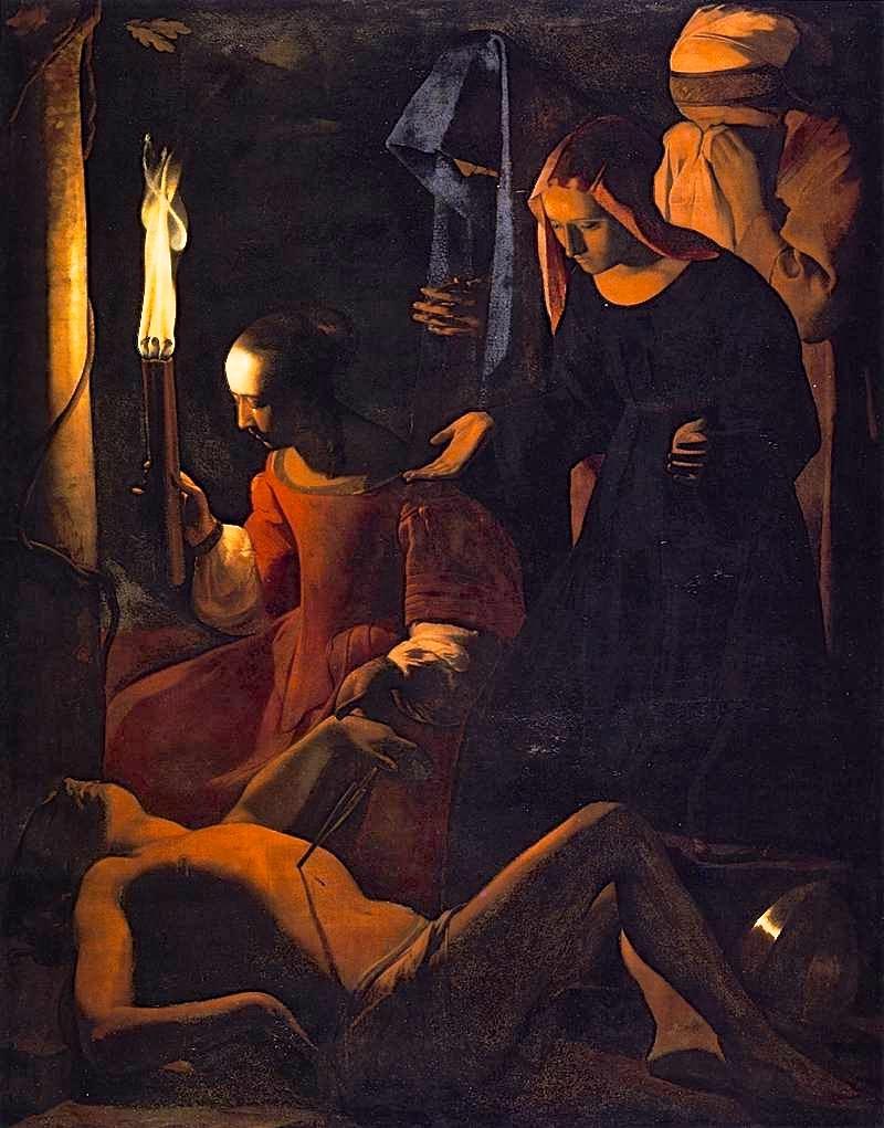 peinture,Georges de la tour,Louvre,saint Sébastien