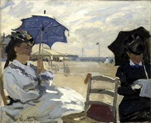 Monet - la plage à trouville 1870 - nat.galley london.jpg