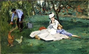 Manet - la famille monet dans le jardin d'argenteuil 1874 metropolitan museum of art new york.jpg