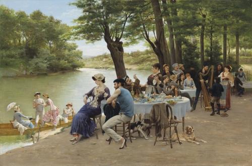 peinture, Marne, guinguettes, musette, Seine, musique