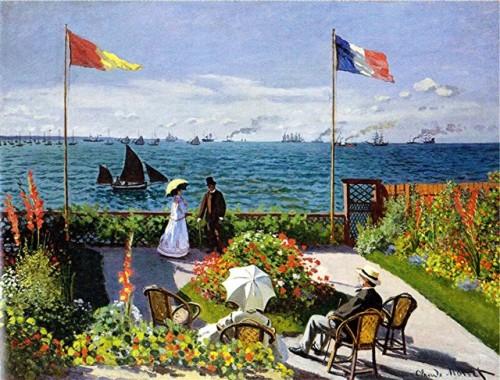 Monet - terrasse à sainte-adresse 1867 metropolitan new york.JPEG
