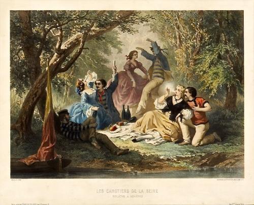 peinture, guinguettes, Marne, Seine, musique, canotage,