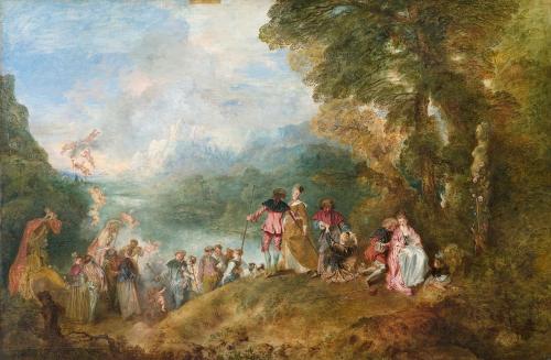 baudelaire,fleurs du mal,poèmes, Watteau