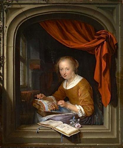 peinture,Dou,hollande,louvre,peintres hollandais