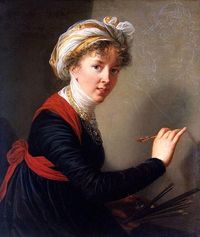 peinture, écriture, peintres femmes, Luxembourg, Vigée Le Brun