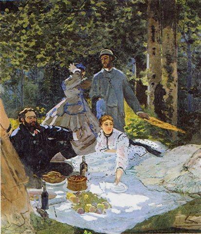 Monet - déjeuner sur l'herbe centre 1865 orsay.jpg