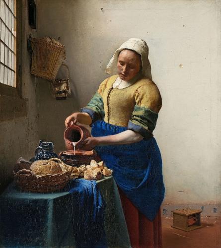 peinture, écriture, vermeer, hollande, louvre, dou, van mieris