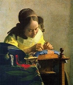 peinture,vermeer,la haye,mauritshuis,dentellière