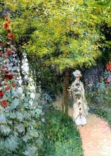 Monet - le jardin roses trémières 1877 privé.jpg