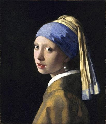 peinture,vermeer,jeune fille à la perle