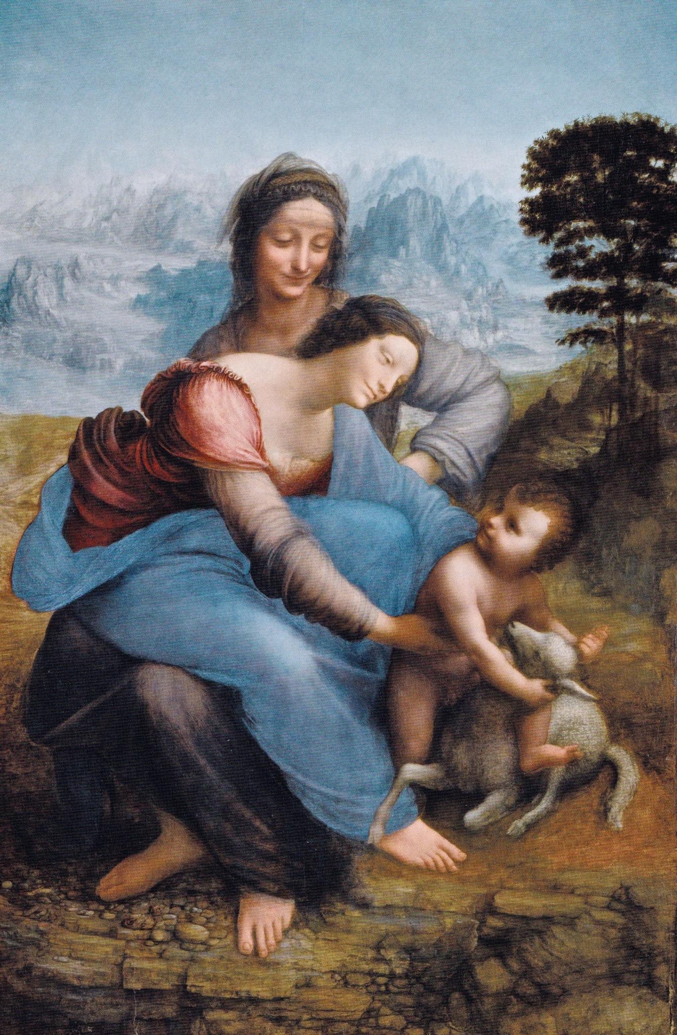 peinture, Léonard de Vinci, Louvre, Sainte Anne