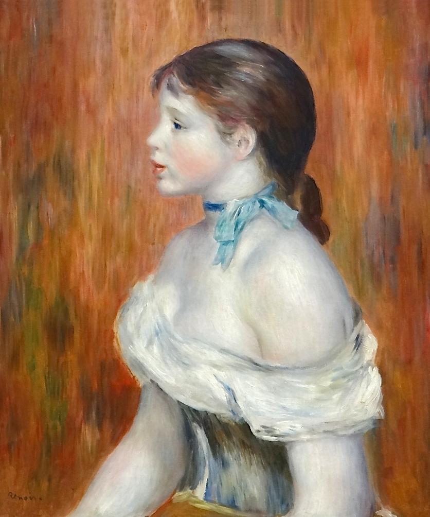 renoir,jeune fille ruban bleu