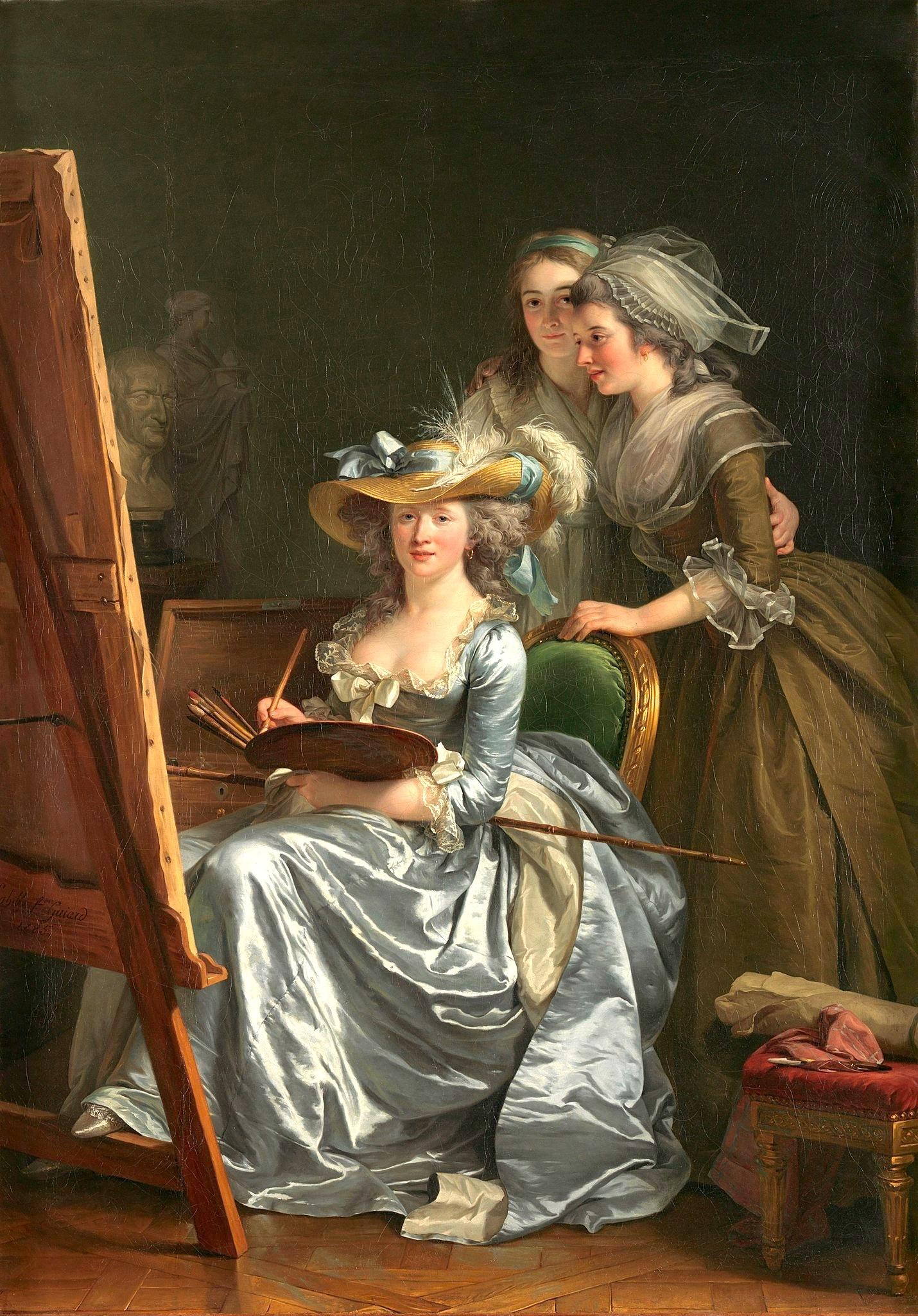 peinture, écriture, peintres femmes, Luxembourg, Labille-Guiard,