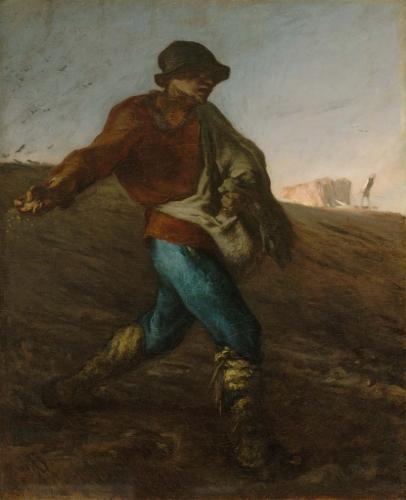 peinture, Millet, Saint-Rémy, semeur