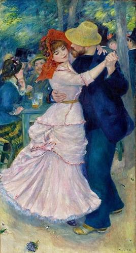 peinture, renoir, chatou, impressionnisme, danse