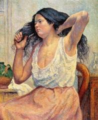 Luce - femme se peignant 1901 - mantes la jolie.jpg