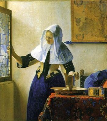 peinture,vermeer,delft,jeune femme à l'aiguière