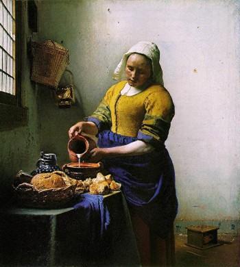 peinture,vermeer,laitière,mauritshuis