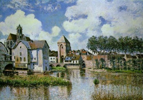 peinture,sisley,impressionnisme,paysage