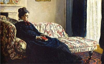 Monet - madame monet au canapé 1870 orsay.JPEG