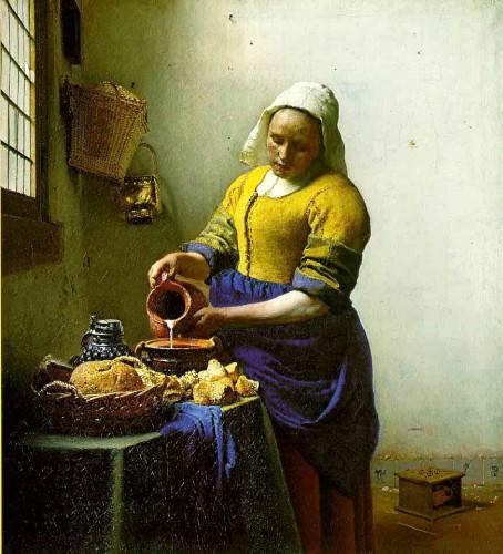 peinture,vermeer,delft, laitière