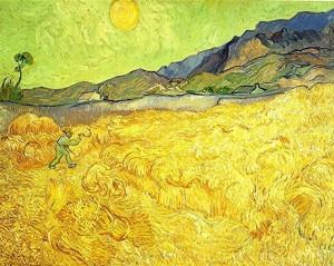 Van gogh - moissonneur dans un champ de blé 90.JPEG