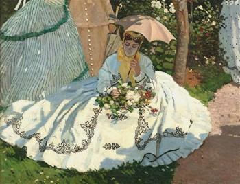 Monet - femmes au jardin détail -1867 orsay.jpg