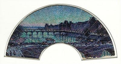 luce - louvre et pont neuf nuit, éventail 1892 orsay.jpg